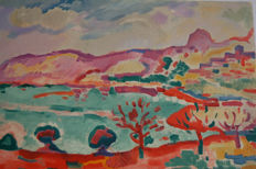 George Braque (after) - Paysage a l'Estaque