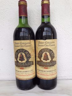1980 Chateau l'Angelus, Saint-Emilion Grand Cru Classé - 2 bottles (75cl)