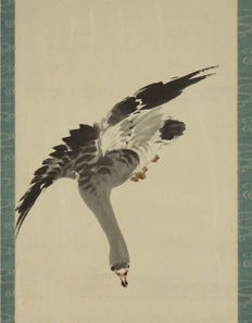 Hand painted, Reed and geese, made after Liu Zhiyong - China - late 20th century