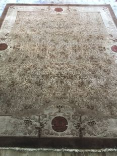 Hand knotted art deco Chinese vintage rug size:300x245 cm