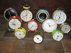 Alarm clocks - various brands - 1960/70 - 11-piece lot