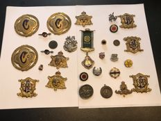 Very large collection of enamelled Masonic medals pins badges etc