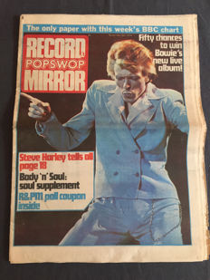 Popmagazines - Record Mirror - 32 complete and unbound editions (1974).