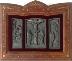 Triptych metal France 19th century.