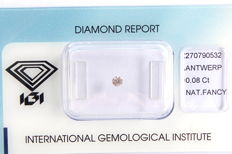 Natural Fancy Light Brownish Pink Diamond 0.08 ct  with IGI cert ***No minimum price***