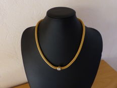 Gold necklace with diamond 0.45 ct.