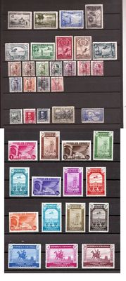 Spain 1930/1944 – Set of complete series – Edifil No. 583/591, 593/603, 690/693, 711/725 and 983.