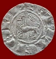 Spain – Fernando IV – Billon Pepión, Burgos (F REGIS) – 17 mm / 0.5 g