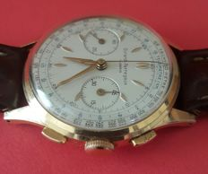 girard perregaux chronogaph. Men's Wrist-watch Late 1940's