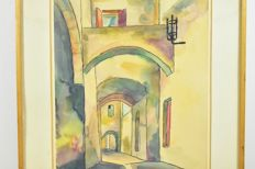 Unknown artist (signed 'Walther) -  Rhodos Street