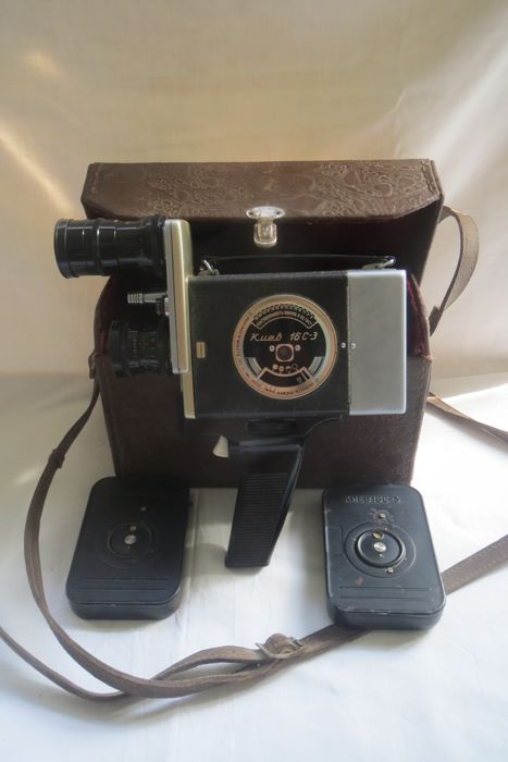 The Kiev-16S-3 movie camera (1966-1971year)the USSR  The objectives of RO-51 2.8 / 20, Industar-50 3.5 / 50. Production of the Kiev Automation Plant named after. G. I. Petrovsky