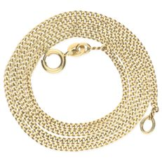 14 kt yellow gold curb link necklace - Length 42 cm