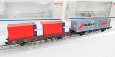 Märklin H0 - 4608/47683 - Two container cars of the NS