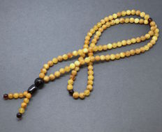 Long necklace, Baltic Amber beads, Ø7 mm, 26.2 grams, no reserve