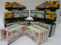 Lion Car - Scale 1/50 - Lot of 6 Parijs-Dakar Items: 4 x Lion-Car Jan de Rooy & 2x Hans Bekx