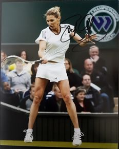 Photo with tennis player STEFFI GRAF's authentic autograph