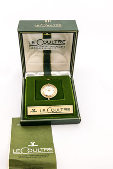 LeCoultre pocket watch, can be worn as a pendant, with original box, 1940s