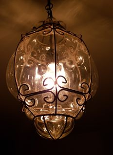 Venetian hanging lamp, second half 20th century,
