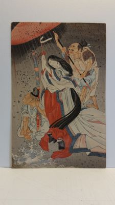 Woodblock print by unknown artist, possibly a pupil of Tsukioka Yoshitoshi (1839-92) - Japan - Early 20th century