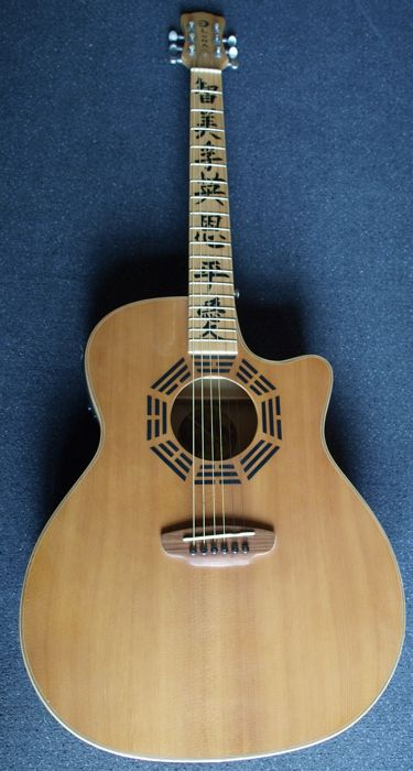 New Luna Oracle Series model Zen electro-acoustic guitar