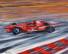 Ferrari Grand prix of Monaco - Painting artist Kiaro - 2017