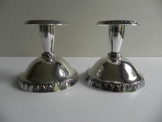 Set of silver candle stands, Tenn & Silver AB, Gothenburg Sweden, 1964