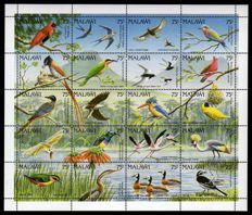 Theme Birds – theme collection of stamps and blocks