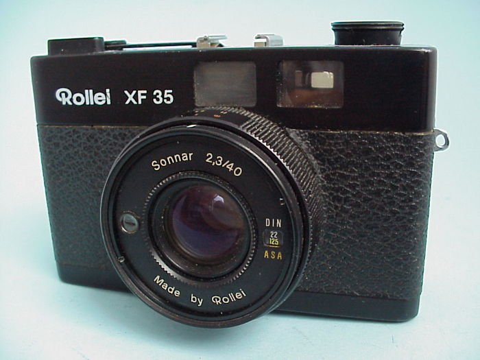Fine Rollei 35mm rangefinder camera XF 35 with Sonnar lens by Heidecke from 1974