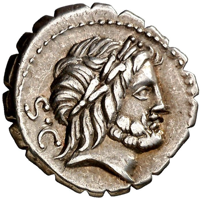 Roman Republic - Q Antonius Balbus serrate silver denarius (3,90 grs. 18 mm.) minted in Rome between 83 - 82 B.C. Victory in quadriga!