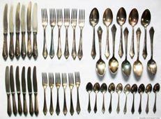 RIK Solingen cutlery for 6 persons- 90 silver plated - 1930s - 44 pieces