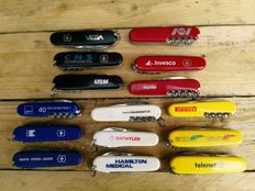 Collection of 15 Victorinox Pocket knives