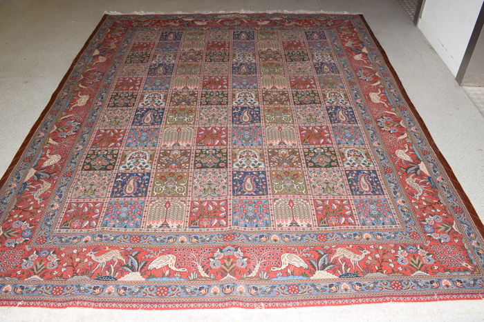 Persian rug Moud with silk - 20th century - around 1980 - 250 x 205 cm