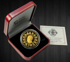 Seychelles - 25 Rupees 2013 'Pope Francis I' gold plated - 28,28 g Silver