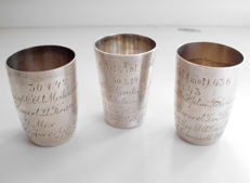 Wehrmacht, collection of 3 shot glasses,