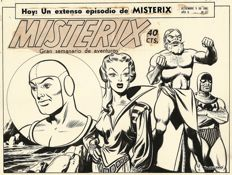 Tarquinio, Sergio - Original cover for Misterix year II no. 51 (1949)