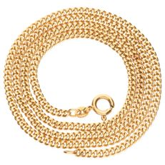 14 kt yellow gold curb link necklace - Length 52 cm