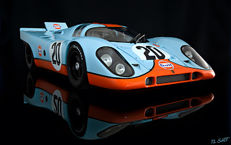 "AUTOart - Scale 1/18 - Porsche 917 1970, the car of Steve McQueen in the movie ""The 24 hours of LeMans"" of 1971"