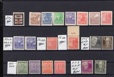 Allied occupation, Soviet zone and GDR of East Germany 1945/1953 - complete sets and individual postal stamps