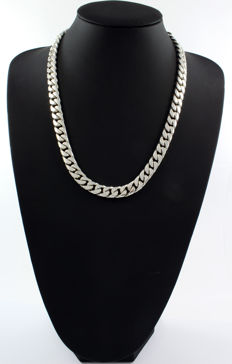 Heavy 925/000 sterling silver chain – 56.5 cm.