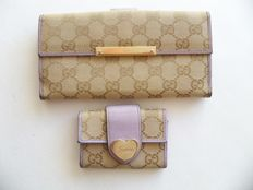 Lot of 2: Gucci bi-fold wallet and Gucci keyholder - *No Reserve Price*
