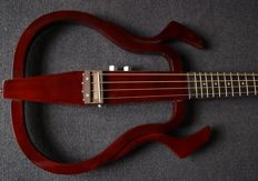New silent bass, can be used with headphones and amplifier, brown, travel bass