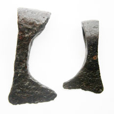 Medieval iron Axes Viking period - 15 cm and 11.5 cm