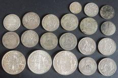 United Kingdom - 3 Pence up to and including ½ Crown 1877/1945 (20 pieces) - silver