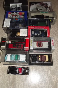 Vitesse / Schuco - Scale 1/43 - Lot with met 13 models Mecedes-Benz, Jeep, Ford & Cadillac