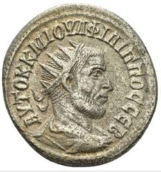 Roman Empire - Philip I, 244-249 AR Tetradrachm Antioch circa 244,