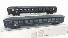 Marklin H0 - 42696 - Two sleepers 'Couchette' of the NS