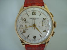 Chronometre Suisse, 18 kt gold men's watch, 1940s