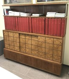 Vintage desk with bookcase, Italy, 1950/60