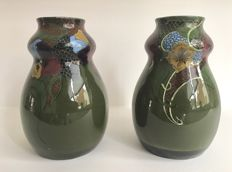 Plateelbakkerij Zuid Holland - Two vases