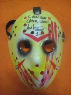 "Ari Lehman mask for the movie ""Jason 1"" Authentic Signed Friday The 13th with certificate BECKETT"